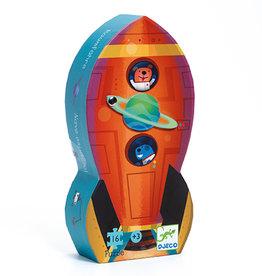 Djeco Djeco - Spaceship Silhouette Puzzle 16pce