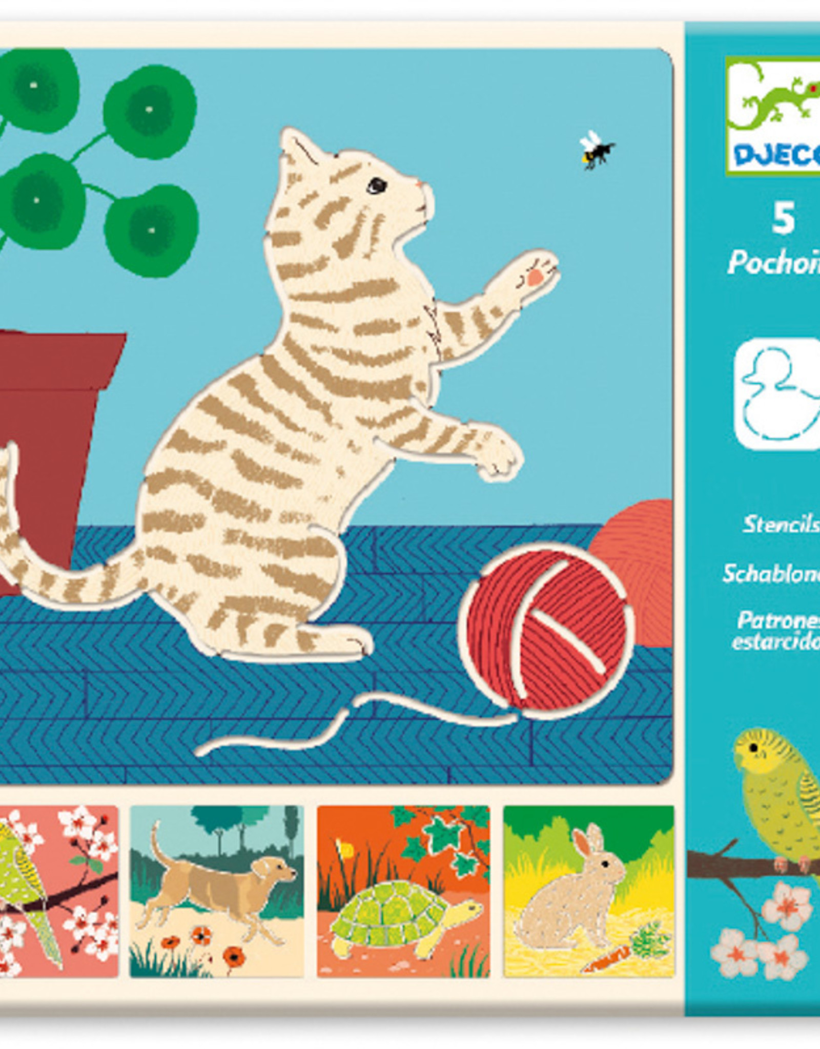 Djeco Djeco - Stencils Cute Companions