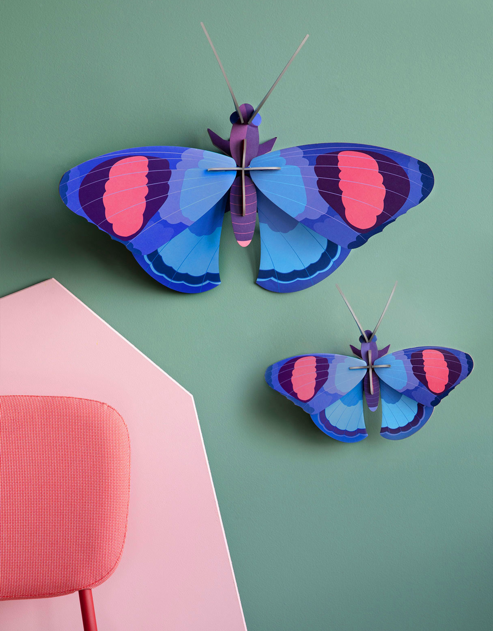 Studio Roof 3D Wall Decor - Deluxe Peacock Butterfly