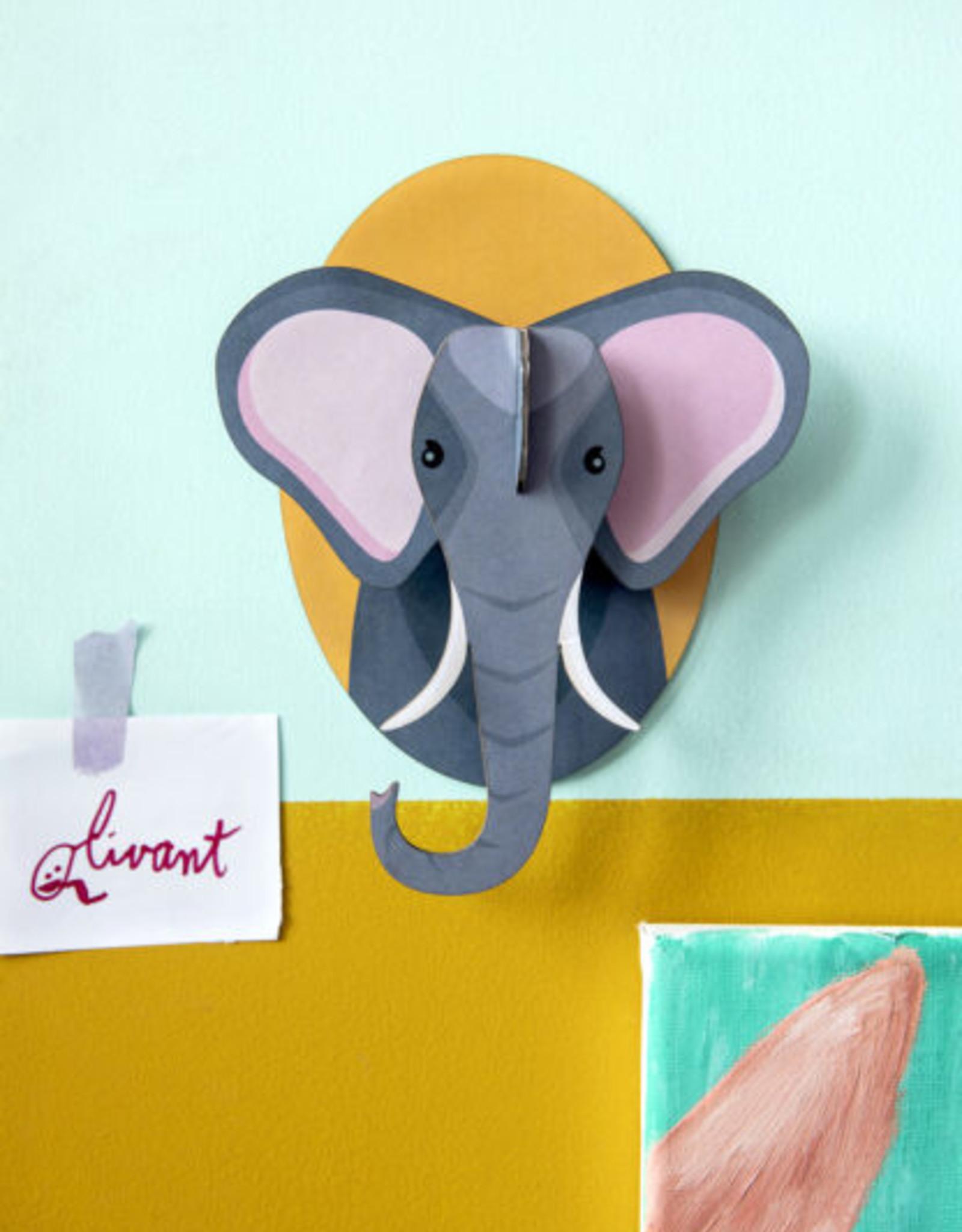Studio Roof 3D Wall Decoration  - Little Elephant