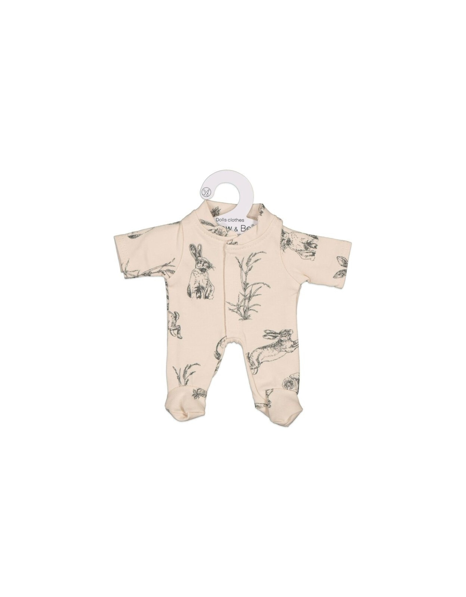 Burrow & Be Burrow & Be - Almond Burrowers Doll Jumpsuit 21cm