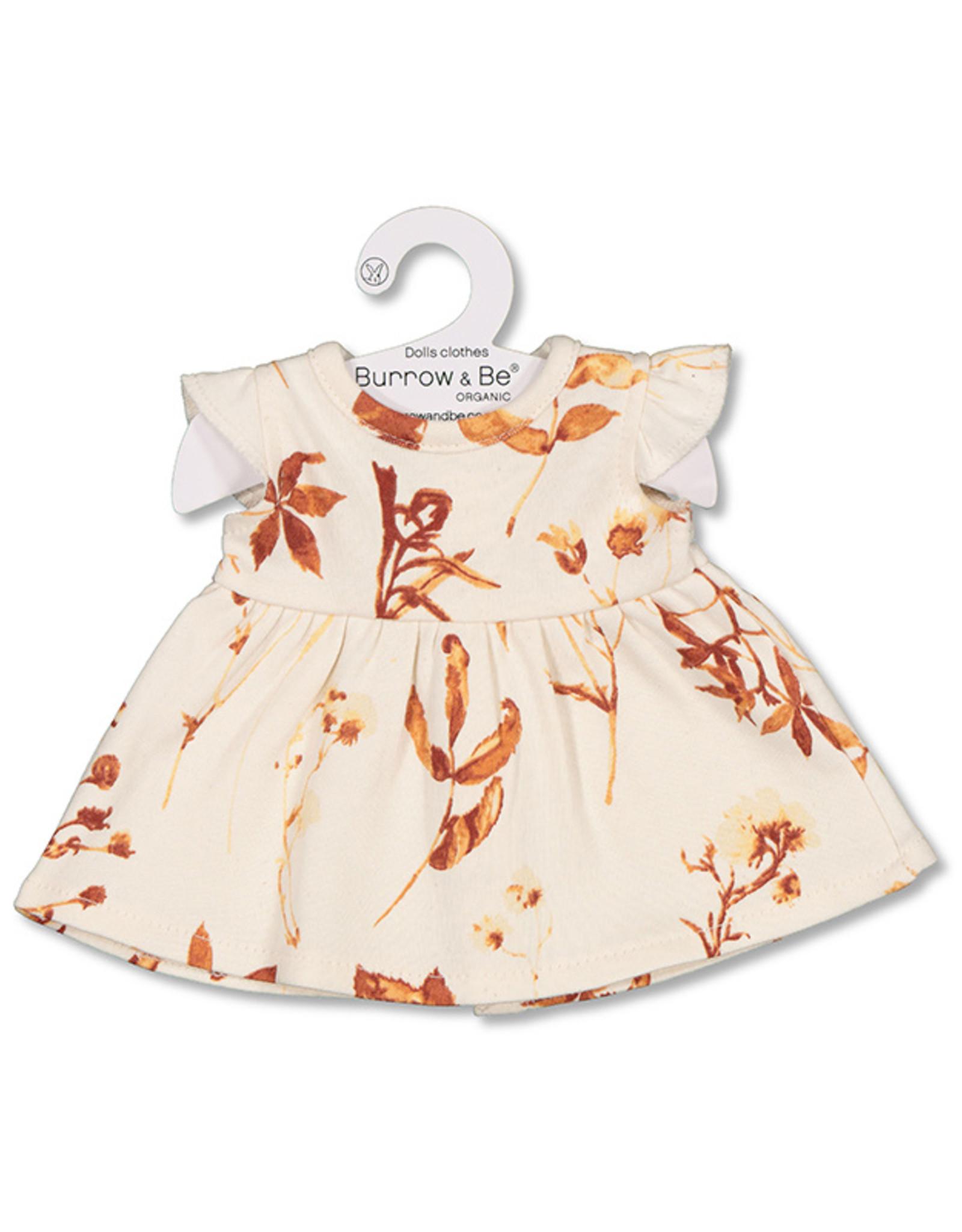 Burrow & Be Burrow & Be - Autumn Leaves Flutter Dolls Dress  38cm