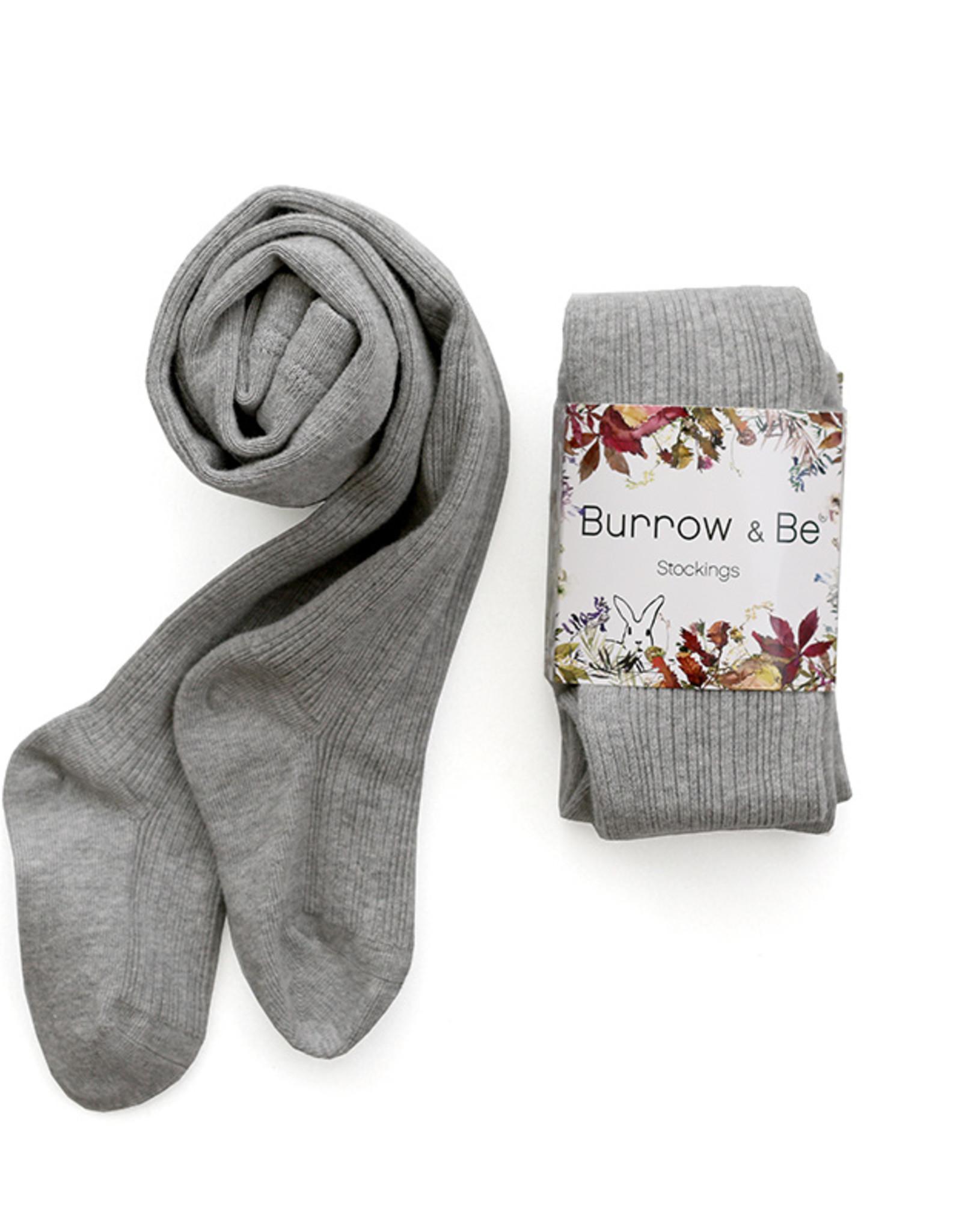 Burrow & Be Burrow & Be - Rib Stockings Light Grey