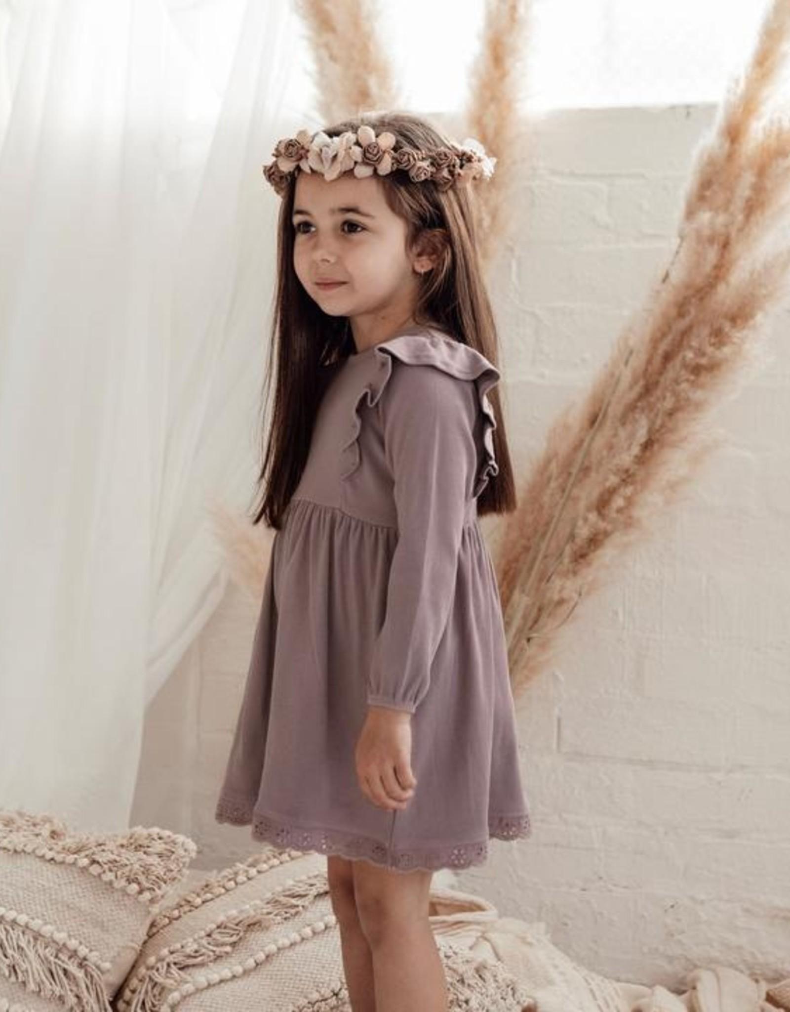 Aster & Oak Aster & Oak - Elderberry Ruffle Dress