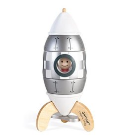 Janod Janod - Silver Magnetic Rocket