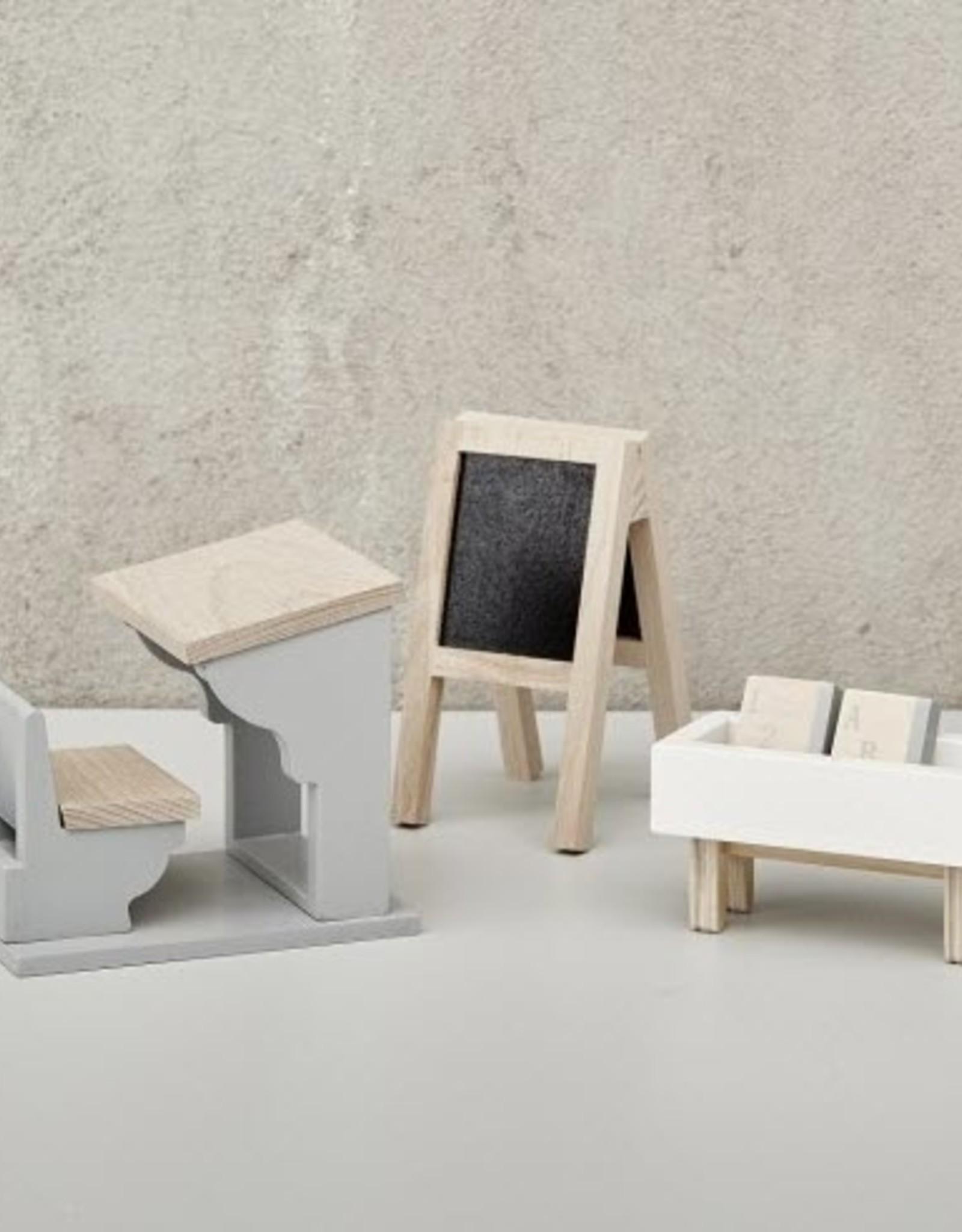 Astrup Astrup - Dolls House School Furniture Set