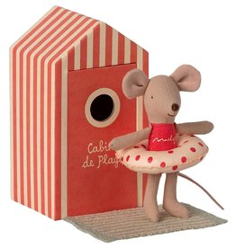 Maileg Maileg - Beach Mouse Little Sister In Cabin