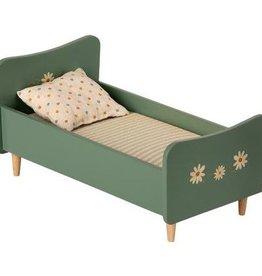 Maileg Maileg - Wooden Bed Mini Mint Blue