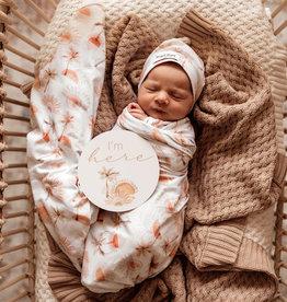 Snuggle Hunny Snuggle Hunny - Paradise Baby Jersey Wrap & Beanie Set