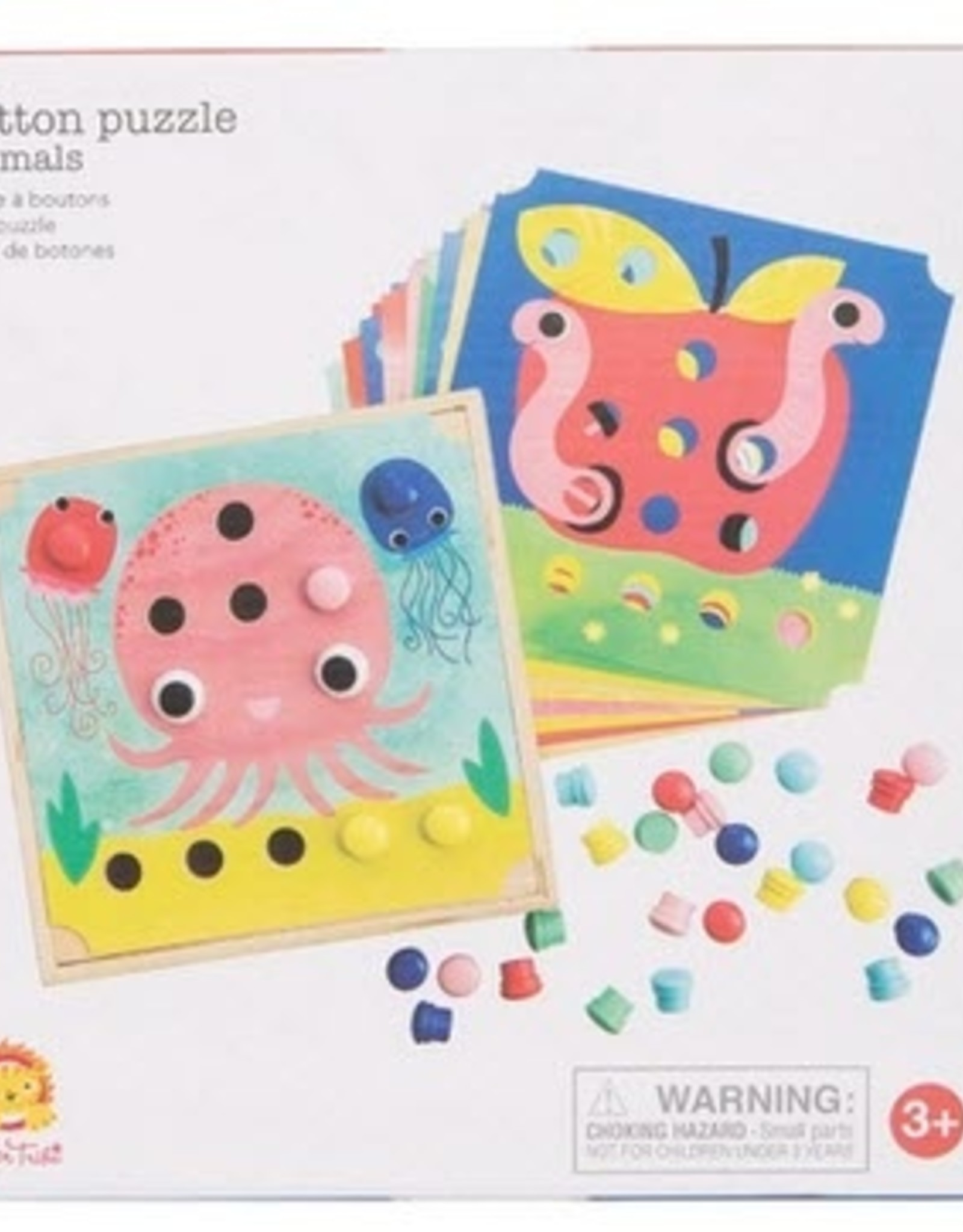 Tiger Tribe Button Puzzle Animals