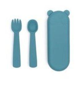We  Might Be Tiny We Might Be Tiny - Feedie Fork & Spoon Set Blue Dusk