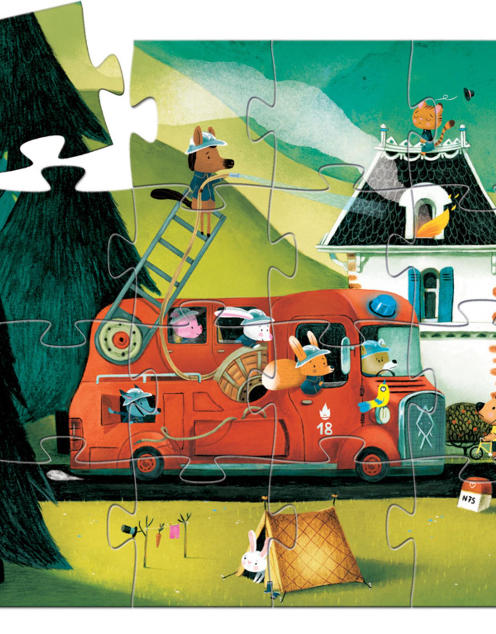 Djeco Djeco - Fire Truck Puzzle 16pce