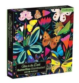 Mudpuppy Mudpuppy- Glow In The Dark Puzzle Butterflies 500pce
