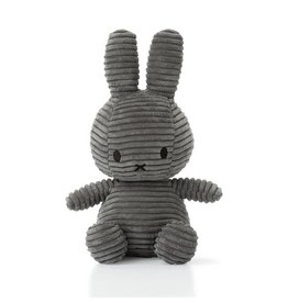 Miffy Miffy - Sitting Corduroy Grey 33cm