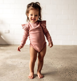 Snuggle Hunny Snuggle Hunny - Rose Long Sleeve Bodysuit