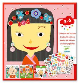 Djeco Djeco - Create with Stickers Faces