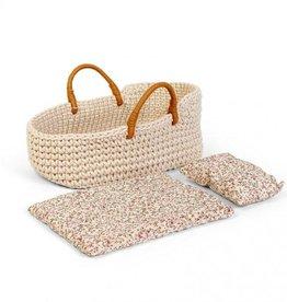 Astrup Astrup - Doll Knitted Basket & Bedding Set