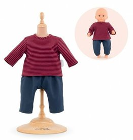 """Corolle Corolle - 12"""" Doll's Striped T-shirt & Pants"""