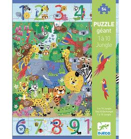 Djeco Djeco -  1 to 10 Giant Jungle Puzzle 54pce