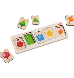 Haba HABA - Colours And Shapes 3 Layer Puzzle