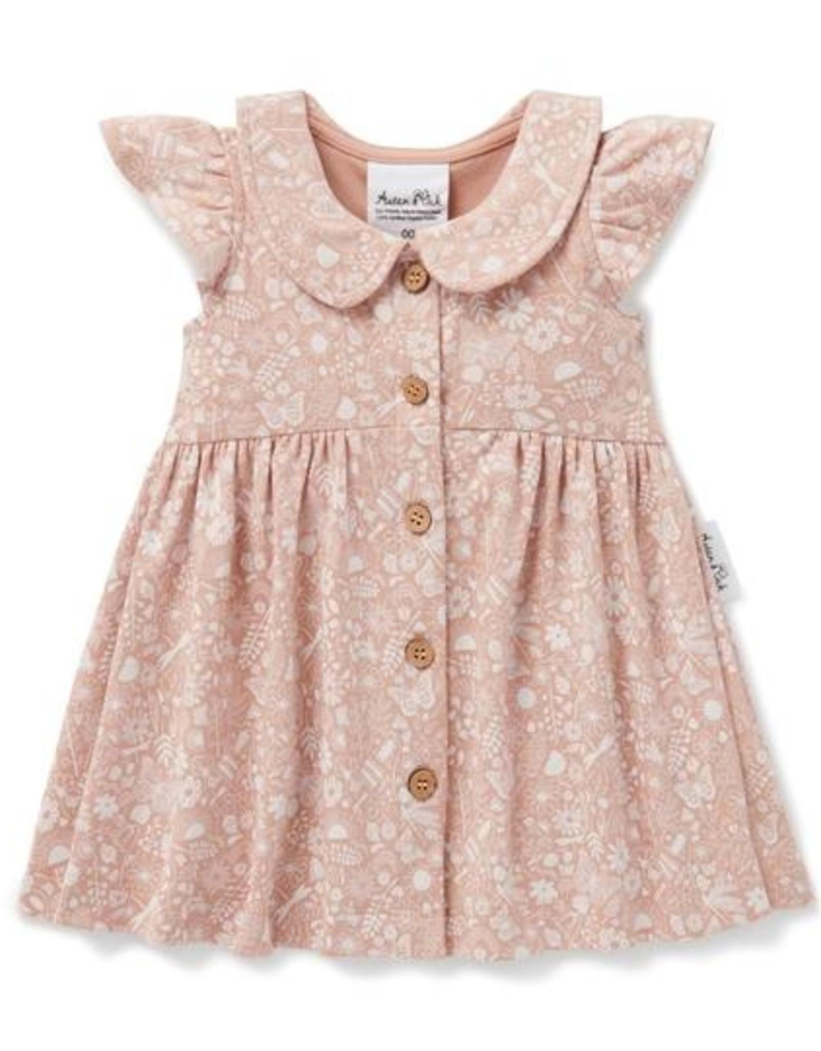 Aster & Oak Aster & Oak - Ditzy Floral Button  Dress