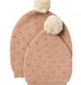Indus Design Indus - Vintage Knit Hat Blush 0-1yrs