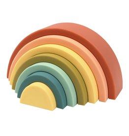 O B Designs O.B Designs - Silicone Rainbow Stacker Cherry