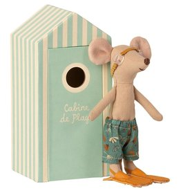 Maileg Maileg - Beach Mouse Big Brother In Cabin