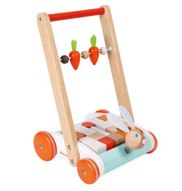 Janod Janod -  Rabbit Cart with Blocks