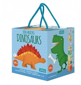 Sassi Sassi - Dinosaur 10 Blocks & Book
