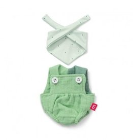 Miniland Miniland Dolls Outfit 21cm- Forest Overalls & Headscarf