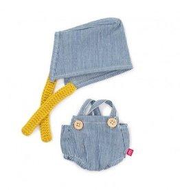 Miniland Miniland Dolls Outfit 21cm - Sea Overalls & Headscarf