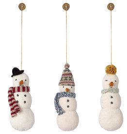 Maileg Maileg - Snowman Ornament Assorted