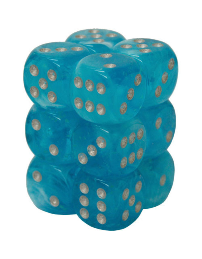 Dice Menagerie 10: 16mm D6 Luminary Sky/Silver (12)