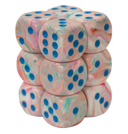 Dice Menagerie 10: 16mm D6 Festive Pop Art/Blue (12)