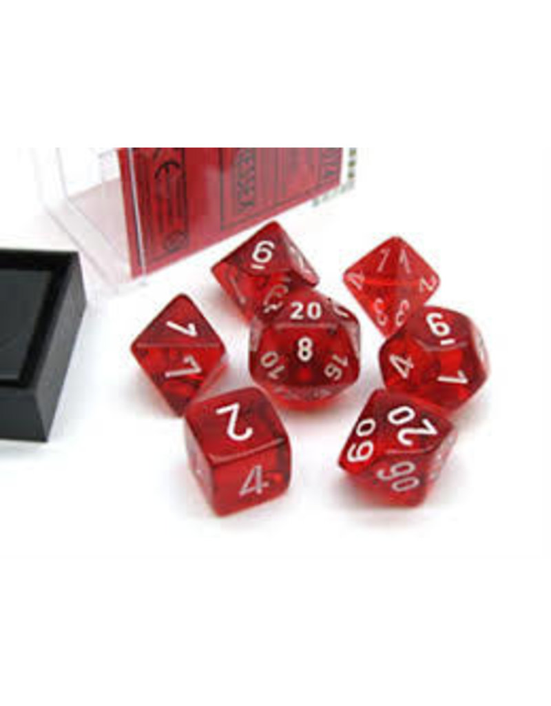 Chessex Translucent: Poly Red/White (7) Revised