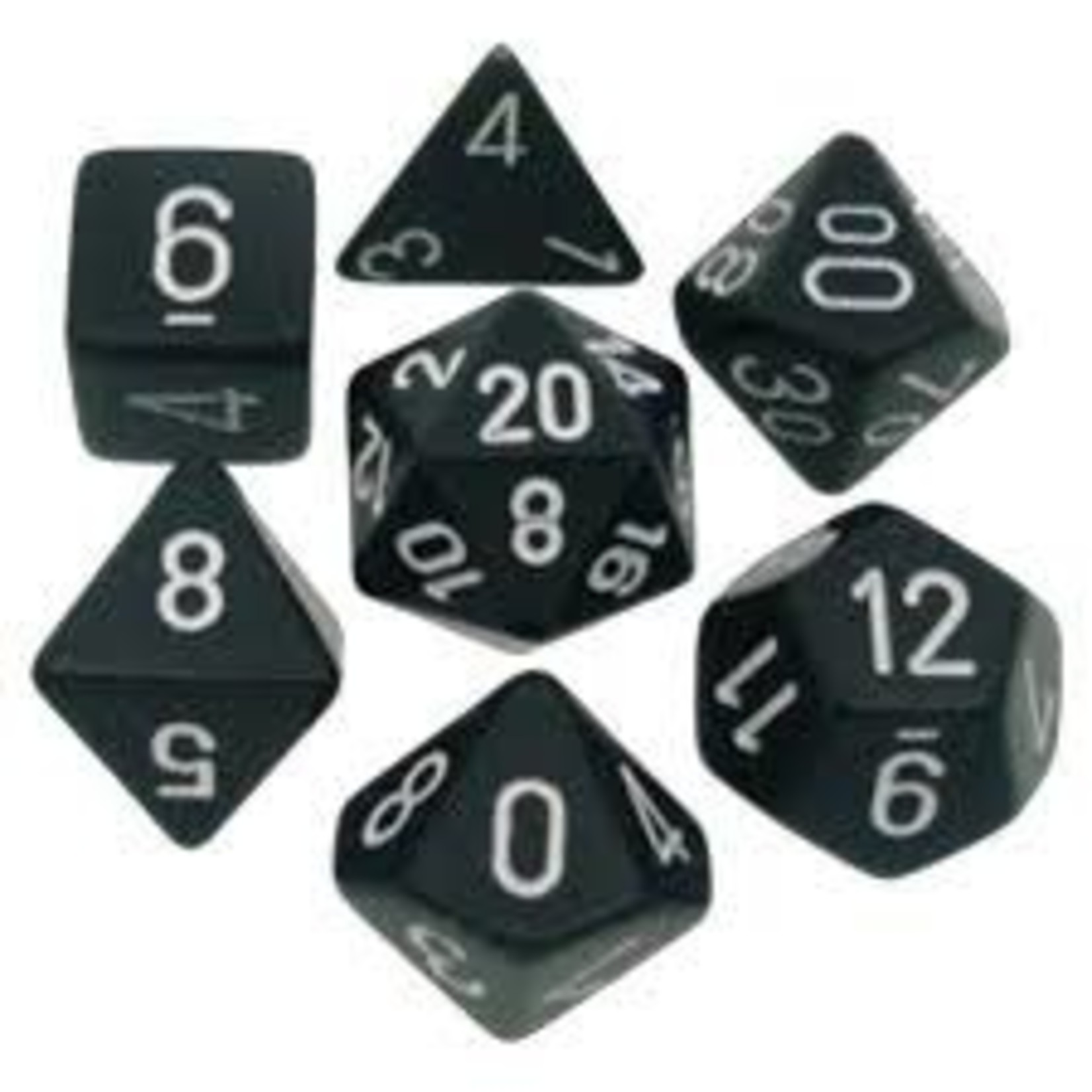Chessex Opaque: Poly Set Black/White (7)