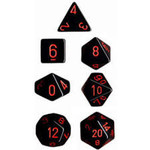 Chessex Opaque: Poly Set Black/Red (7)