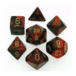 Chessex Gemini 3: Poly Black Red/Gold (7)