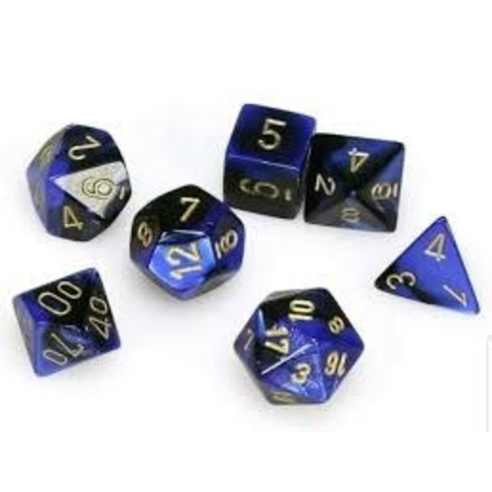 Chessex Gemini 3: Poly Black Blue/Gold (7)