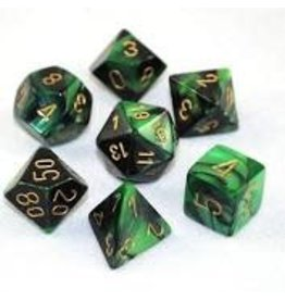 Chessex Gemini 4: Poly Black Green/Gold (7)