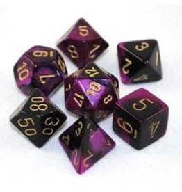Chessex Gemini 4: Poly Black Purple/Gold (7)