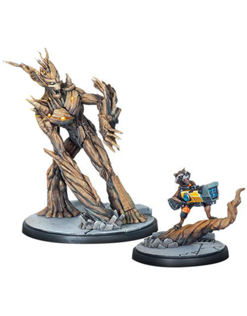 ASMODEE EDITIONS Marvel: Crisis Protocol - Rocket and Groot Character Pack