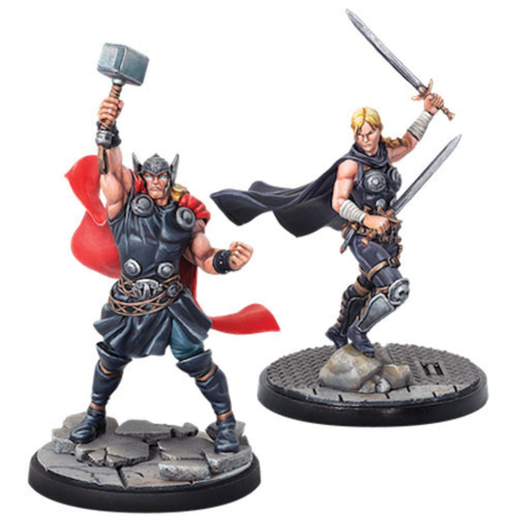 ASMODEE EDITIONS Marvel: Crisis Protocol - Thor and Valkyrie Character Pack
