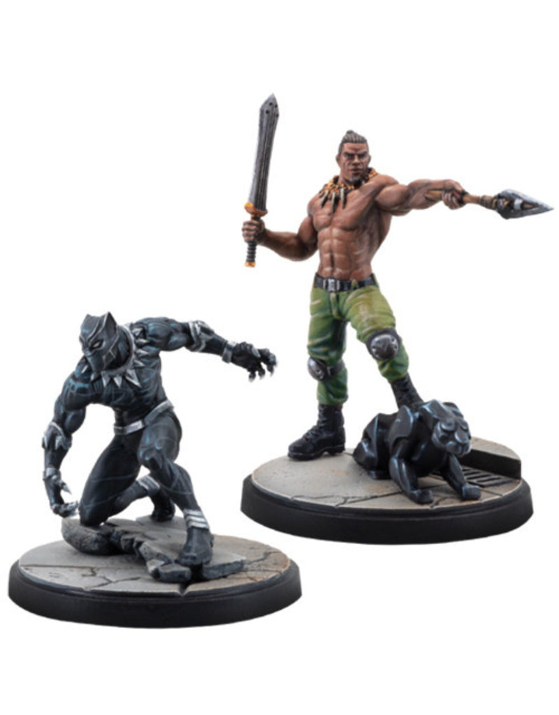 ASMODEE EDITIONS Marvel: Crisis Protocol - Black Panther and Killmonger Character Pack