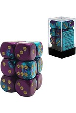 Gemini 5: 16mm D6 Purple Teal/Gold (12)