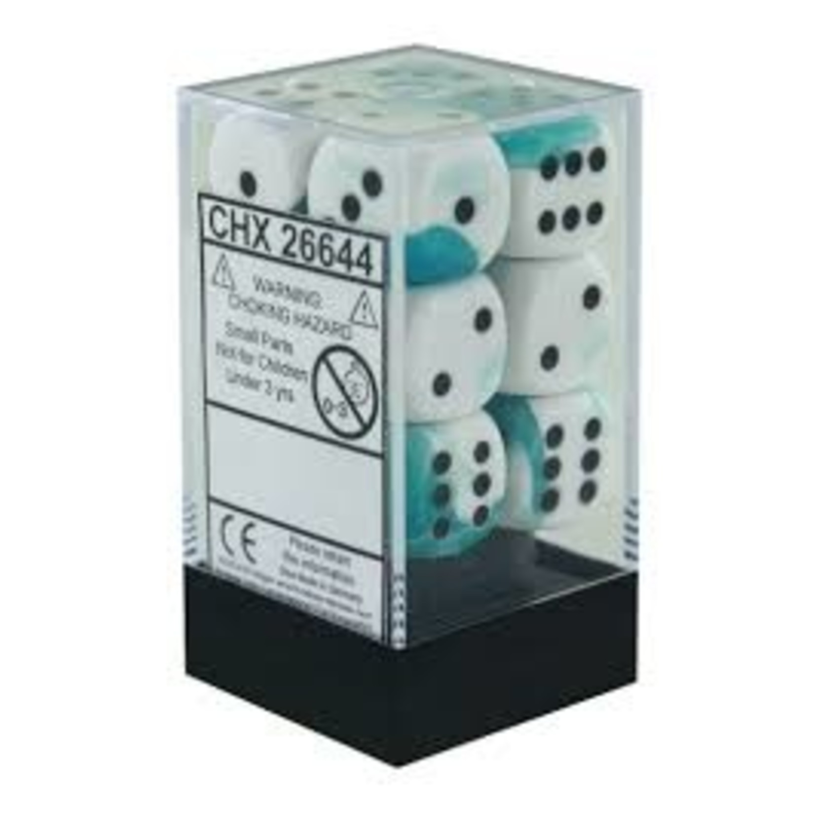 Gemini 4: 16mm D6 White Teal/Black (12)