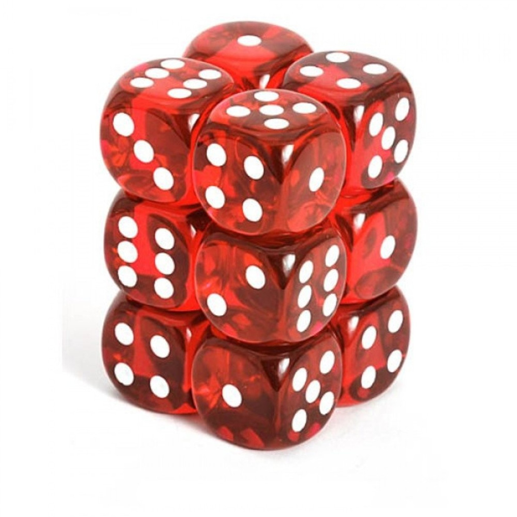 Translucent: 16mm D6 Red/White (12)