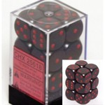 Opaque: 16mm D6 Black/Red (12)
