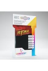 Matte Board Game Sleeves: KeyForge Exoshields Clear 66mm x 92mm (40) (Gold)
